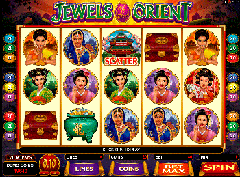 Бонусная игра Jewels Of The Orient 3