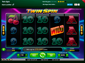 Бонусная игра Twin Spin 1