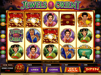 Бонусная игра Jewels Of The Orient 5