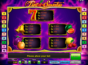 онлайн аппарат Fruit Sensation 2
